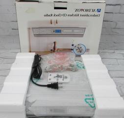 New Audiovox Under Cabinet Kitchen CD Player Clock Radio AM/