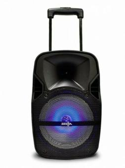 """Party Speaker 8"""" with LED Light Rechargeable Bluetooth /Aux"""