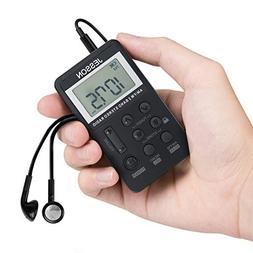 JESSON Personal AM FM Pocket Radio Portable Digital Tuning S
