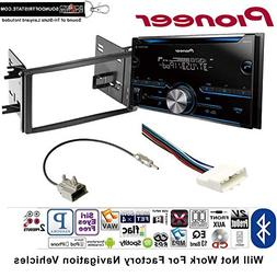 Pioneer FH-S500BT Double Din Radio Install Kit with CD Playe