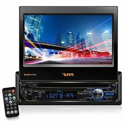 """Single DIN Head Unit Receiver - In-Dash Car Stereo with 7"""""""