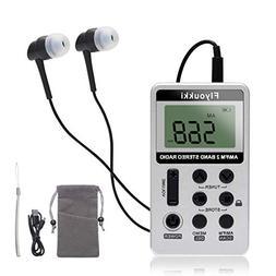 Pocket Small Radio by Flyoukki, Personal Mini AM FM Portable