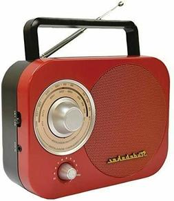 PORT AM/FM RADIO RED