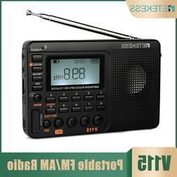 Retekess Portable Air Band/FM/MW/SW Radio Clock Alarm Sleep