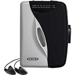 Jensen Portable Compact Lightweight Slim Design Stereo AMFM