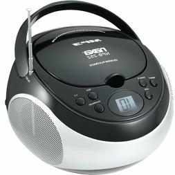 PORTABLE NAXA MP3/CD PLAYER with AM/FM STEREO RADIO BLACK MO
