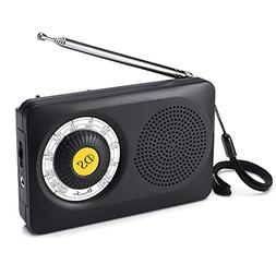 DreamSky AM FM Portable Radio with Loudspeaker and Headphone