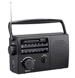 PR-137 AM/FM 2 Band Portable Radio AC Operated or Operated b