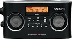 Sangean PR-D5BK AM/FM Portable Radio with Digital Tuning and