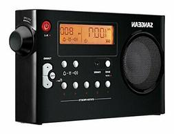 Sangean PR-D7 BK AM/FM Digital Rechargeable Portable Radio -