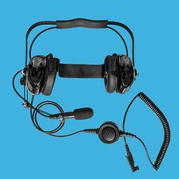 Radio Headphone w. Boom MIC for Hytera HYT TC-3600 TC-3600M