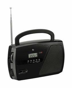 GPX  Black  AM/FM Clock Radio  Digital  Plug-In