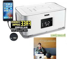 RCA RCR8622 Dual Alarm Clock AM FM Radio w4 Multi color Wrap