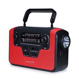 Real NOAA Alert Weather Radio with Alarm, iRonsnow IS-388 So