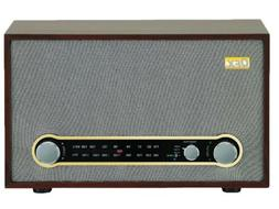QFX RETRO-100 Retro Vintage Style AM/FM Radio +Bluetooth +AU