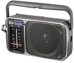 Panasonic RF2400D 2-Band Portable AM/FM Radio,Silver/Grey -