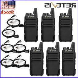 Retevis RT22 Squelch 2-Way Radio UHF 2W 16CH 6pcs Walkie Tal