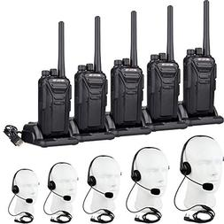 Retevis RT27 Walkie Talkies with Earpiece Mic FRS 2 Way Radi