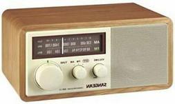 Sangean SAN-WR11 Wood Table Top Radio Rotary Tune & Volume C