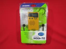Sangean DT-400W AM/FM Digital Weather Alert Pocket Radio DT-