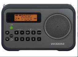 Sangean PR-D18BK AM/FM/Portable Digital Radio with Protectiv