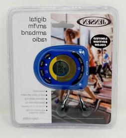 JENSEN Sport Digital AM/FM Armband Radio Belt Clip w/ Alarm/