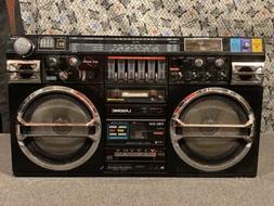 Lasonic TRC-931 Radio/Headphone Jack/Dual Cassette Boombox 1