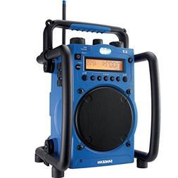 Sangean U-3 Jobsite AM/FM Radio Digital Blue Ultra Rugged Wa
