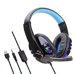 JP-DPP9 3.5mm USB Wired LED Gaming Headset Headphones with M