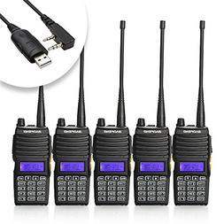 Baofeng 5PCS UV-5X Mate Handheld Two-way radio VHF136-174MHz