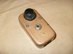 vintage radio headphone jack metal box audio