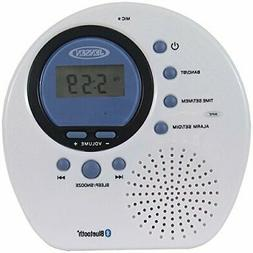 Jensen Water Resistant AM FM Shower Radio Digital Tuner Blue