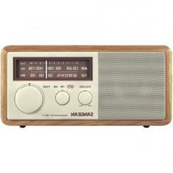 Sangean WR-11 Tabletop FM/AM Analog Wooden Cabinet Radio Rec