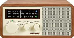 Sangean WR-16 AM/FM/Bluetooth Wooden Cabinet Radio with USB